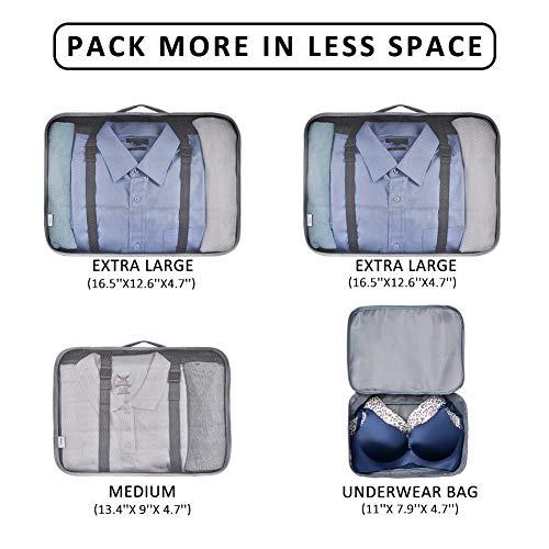 VAGREEZ Packing Cubes 4 Pcs Travel Luggage Packing Organizers Set by VAGREEZ (Image #2)