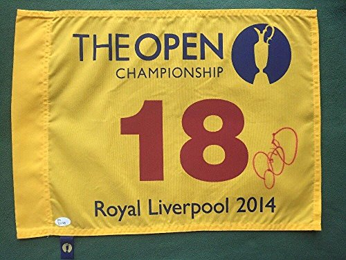 RORY McILROY Signed British Open Flag 2014 Certificate Of Authenticity - JSA Certified - Autographed Golf Pin Flags