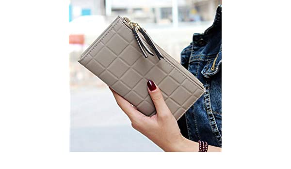 Amazon.com: Lannmart Women Wallets Square Long Purse Double Zipper Card Holder Womens Purse carteras Mujer para Mujer: Kitchen & Dining
