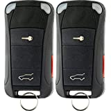 KeylessOption Keyless Entry Remote Control Car Ignition Flip Key Fob Replacement for KR55WK45032 (Pack of 2)