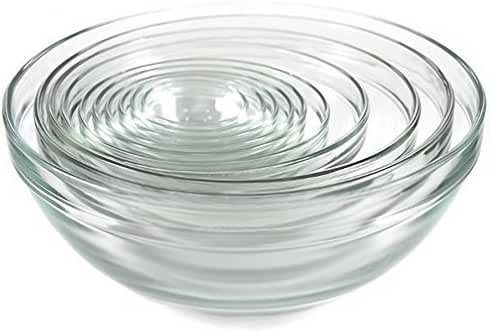 Kangaroo's 10 Pc Glass Bowl Set; Nesting Bowls, Mixing Bowls