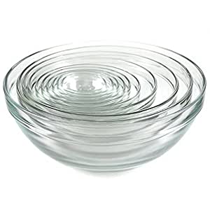 Kangaroo's 10 Pc Glass Bowl Set; Nesting Bowls, Mixing Bowls