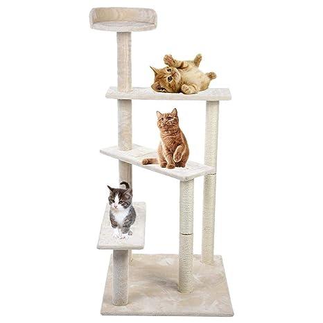 Zerone - Árbol rascador para Gatos, Palacio para Mascotas ...