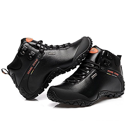 Style Xiang leather A fashion Pantofole Nero Guannew sport outdoor Stivaletto top nero Donna high pq0pRr