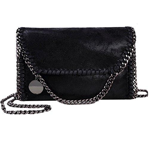 Olivia Women Chain Paillette Large Casual Tote PU Leather Shoulder Bag  Clutch Messenger Bag Purse Pouch b606194b1aa