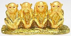 Feng Shui 4 Wise Monkeys Figurine