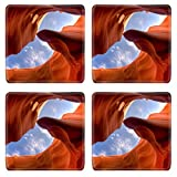 MSD Square Coasters Non-Slip Natural Rubber Desk Coasters design: 6083316 Antelope Canyon is the most visited and most photographed slot canyon in the American Southwest located on