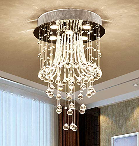 Amazon.com: noxarte moderno araña de vidrio LED de techo luz ...