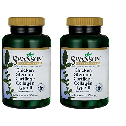 Swanson Chicken Sternum Cartilage Collagen Type Ii 500 Milligrams 120 Capsules 2 Pack