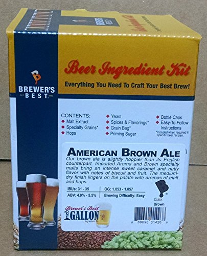 Home Brew Ohio American Ale Brewer's Best 1 gallon Home Brew Beer Ingredient Kit, Brown