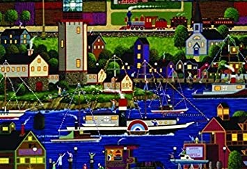 The Canadian Group Heronim Holiday Boat Parade Puzzle Collection (1000 Piece) by The Canadian Group: Amazon.es: Juguetes y juegos