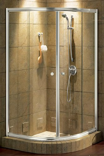 Maax shower enclosure 137566-CH. 42\'\'W x 42\'\'D x 70\'\'H, Chrome 084 ...
