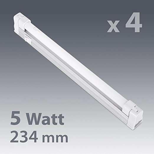 Pack of 4 white t5 5w fluorescent warm white linkable under pack of 4 white t5 5w fluorescent warm white linkable under cupboardcabinet strip aloadofball Images