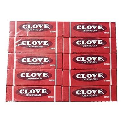 Classig Clove Gum In Tin 10 Packs of 5 piece stick gum