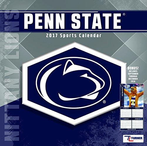"Turner Licensing Sport 2017 Penn State Nittany Lions Team Wall Calendar, 12""X12"" (17998011816)"