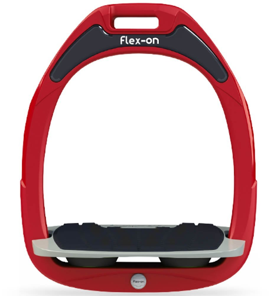 Flex On Green Composite Inclined Grip Stirrups Red Black