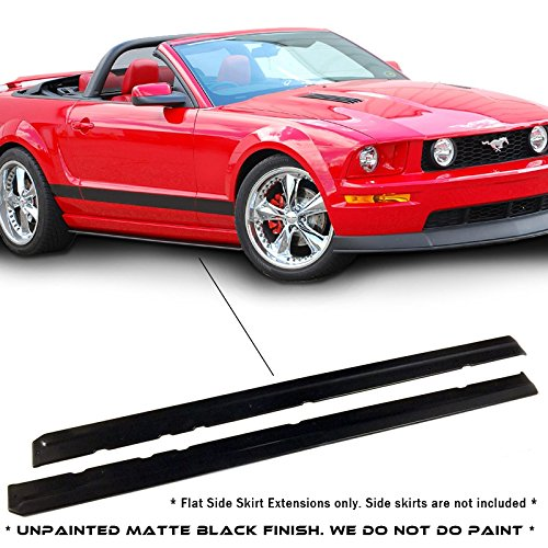 Mustang Side Skirts - Ford Mustang CDC Style Urethane Side Skirts Extension Molding For 05-14 Models ONLY.