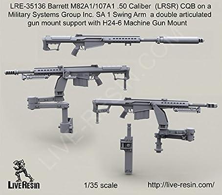 Live Resin 1:35 Barrett M107A1 M82A1  50 Cal LRSR on SA 1 Swing Arm  #LRE35136