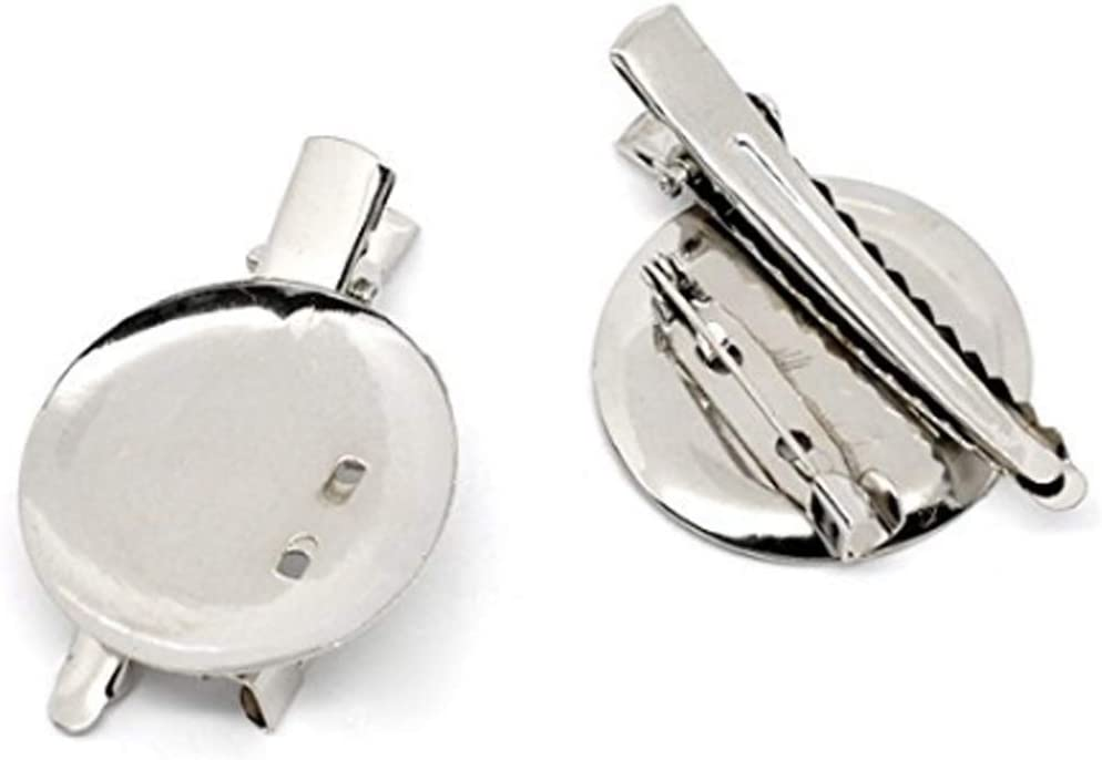30mm Brooch Pin Nickel Plated with 3 Holes 100 Pieces