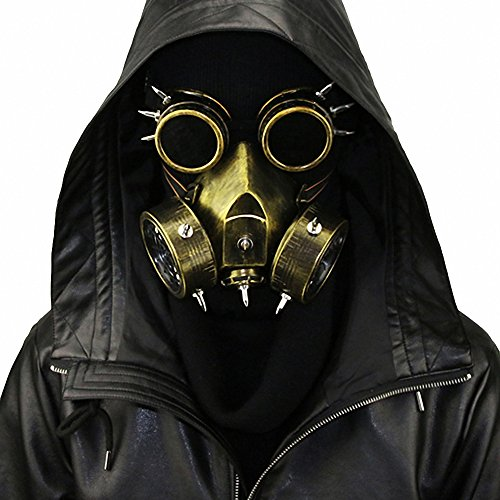 Steampunk Gas Goggles Skeleton Warrior Death Mask Masquerade Chrismas Cosplay Props