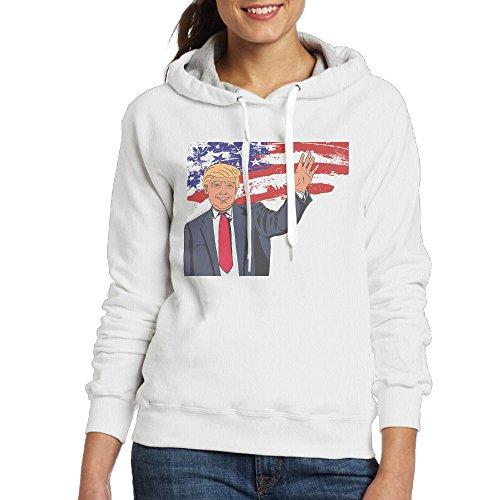MUMB Women's Sweater Trump Size M White - Little Miss Sunshine Womens Costume