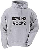 Bowling Rocks Adult Hooded (Hoody) Sweatshirt In Various Colors