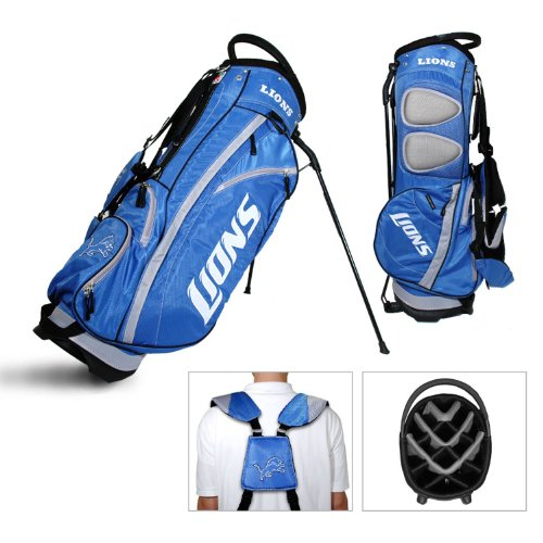Team Golf NFL Detroit Lions Fairway Golf Stand Bag, Lightweight, 14-way Top, Spring Action Stand, Insulated Cooler Pocket, Padded Strap, Umbrella Holder & Removable Rain Hood