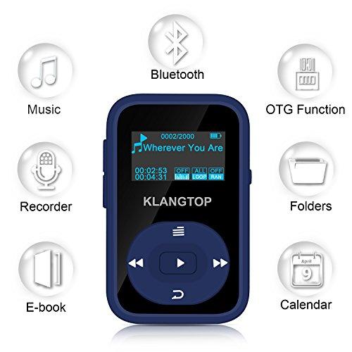 MP3 플레이어 8 기가 바이트 블루투스 KLANTOP 디지털 클립 음..