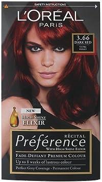 L Oreal Paris - Colorante para cabello «Préférence» rojo ...