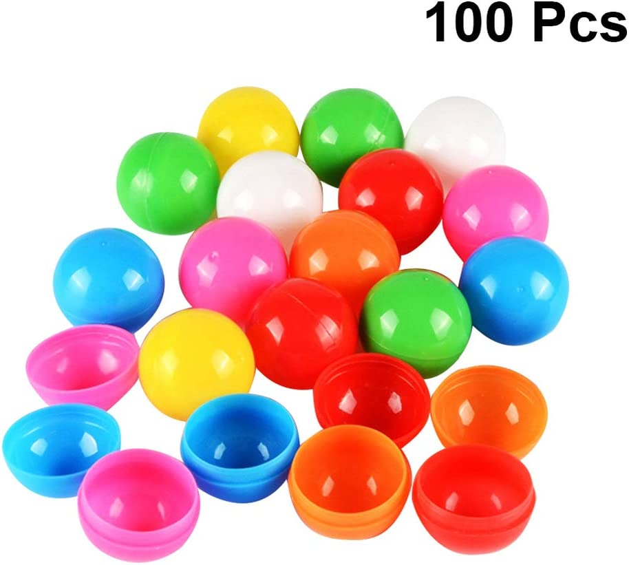 Holibanna Bolas de la Cerveza Pong Bolas de la lotería de plástico Hueco Bolas de Actividad de Las Tablas de artículos para Fiestas Juego de 40 mm de diámetro 100pcs 32mm