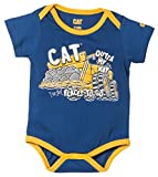 Caterpillar Baby Boy's Movin' Bodysuit, Lapis, 6 Month