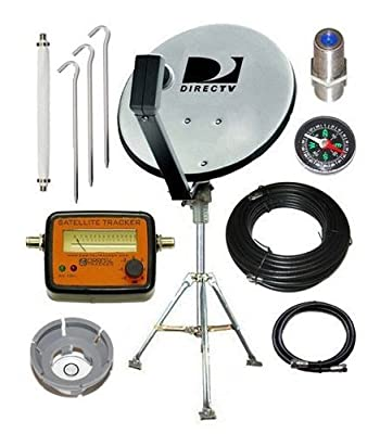 DirecTV 18 Dish Portable Satellite Kit for RV Camping Tailgating with Meter from Satpro