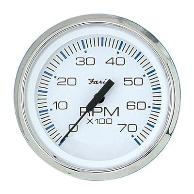 Faria 33817 Chesapeake 7000 RPM Tachometer,White: Automotive