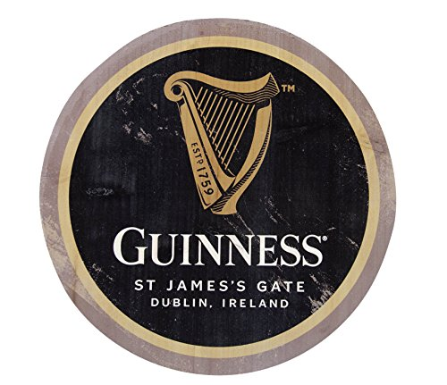 Guinness Wooden Bottle Top Bar Sign Wall Art (Harp)