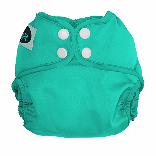 Imagine Baby Products Newborn Diaper Cover, Snap, Aquamarine