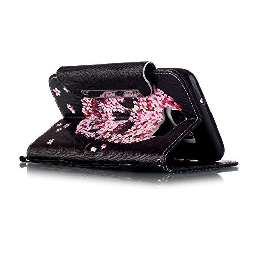 para Samsung Galaxy S7 Edge Funda Libro de PU Leather Cuero Suave Con PU Case -Sunroyal ® Ultra Slim Flip Carcasa Cover, Cierre Magnético, Función de Soporte,Billetera con Tapa para Tarjetas Caja del  A-07