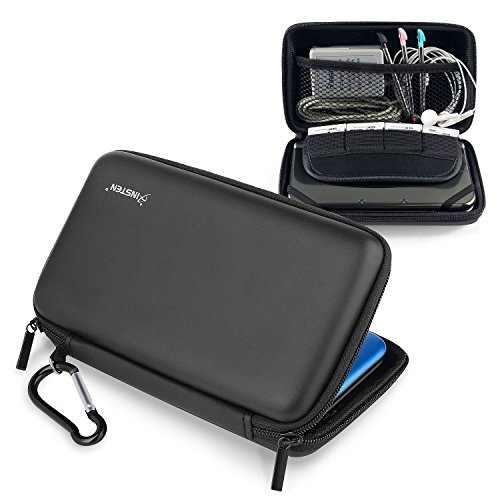 Dsi Zip Case Eva (Insten Eva Case Compatible With Nintendo NEW 3DS XL / NEW 2DS XL / 3DS XL / 3DS LL, Black)