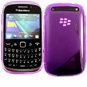 S-Line Gel Concha Caso Cubrir Para Blackberry Curve 9220 9320 / Purple