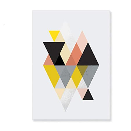 Geométrico abstracto Escandinavia Lienzo Pintura Interior ...