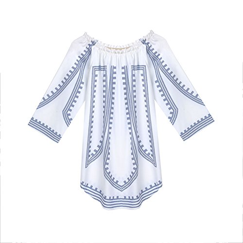 Plage Femmes Sexy Chicfor Boho Robe Chemise Loose Cocktail Décontracté Mini Robe Blanche