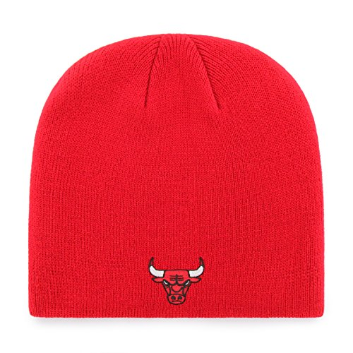 OTS NBA Chicago Bulls Beanie Knit Cap, Red, One Size