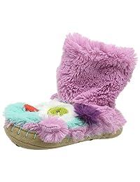 Hatley Little Girls'  Pink Bear Slouch Slipper