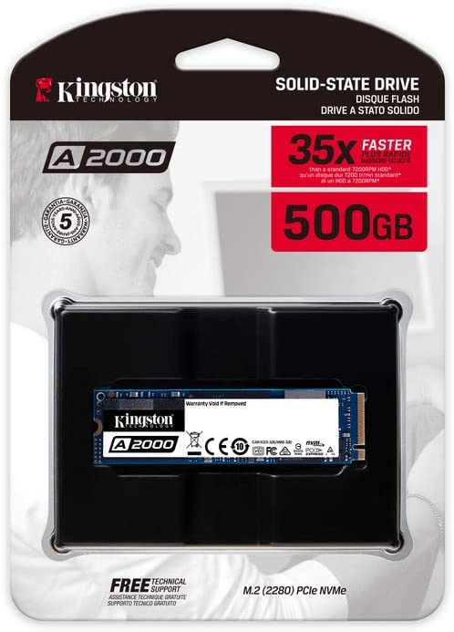 Kingston A2000 (SA2000M8/500G) SSD NVMe PCIe M.2 2280 500 GB ...
