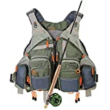 Kylebooker Fishing Vest Mesh for Men and Women(Army Green)