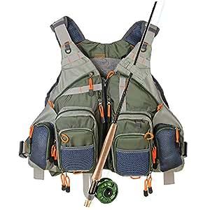 Kylebooker fly fishing vest pack fishing for Fishing vest amazon