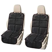 Car Seat Protector 2 Pack, Waterproof Seat Protector with Thickest Padding for Baby Car