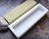 Rectangular Soap Mold Thick and Sturdy Silicone Natural Soap Making Mould with Honeycomb Design 10inch 16oz Soap