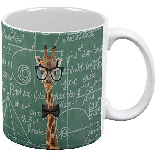 Giraffe Geek Math Formulas All Over Coffee Mug White Standard One Size