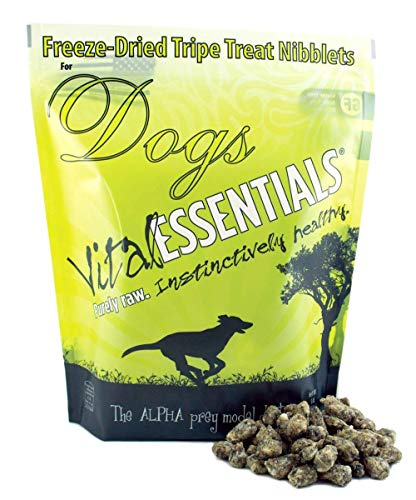 Vital Essentials Freeze-Dried Beef Tripe Nibblets Grain Free Limited Ingredient Dog Treats, 1 Pound Bag ()