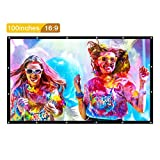 PVC Projection Screen, GBTIGER Portable Outside Projector Screen 100 Inches 16:9 Family Use Backyard Movie Screen Bussiness Presentation, Speech, Teaching, Party Applicable, PVC Fabric.